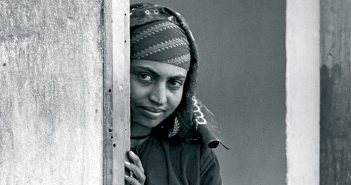 A young Yemenite emigrant at the Rosh Ha'ayin camp for immigrants, January 1949. (Teddy Brauner/GPO).