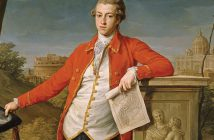 "Portrait of Francis Basset on ""the grand tour,"" by Pompeo Batoni, 1778."
