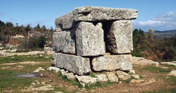 The monumental tomb at the Shema ruins.