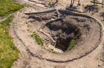 Aerial view of Tel Megiddo. (Israeltourism)